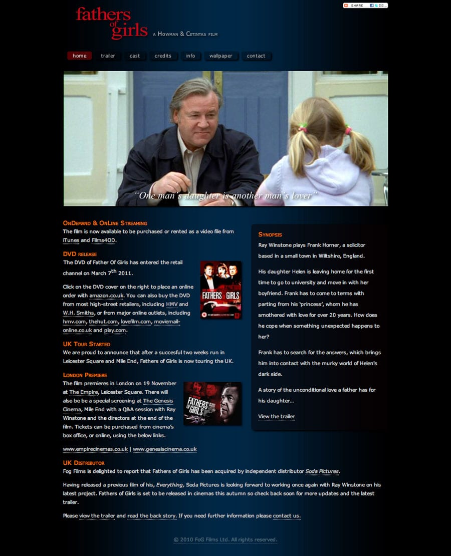 Fathers of Girls – starring Ray Winstone